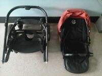 Tiring free OYSTER pushchair rrp 199, vey easy to push.