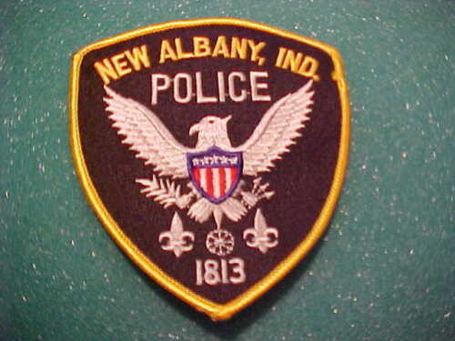 NEW ALBANY INDIANA POLICE PATCH SHOULDER SIZE UNUSED