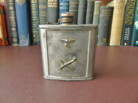 Pewter Hip Flask - Berlin 1936 - Ideal For Re-Enactment Groups/Collectors German Pewter Hip Flask