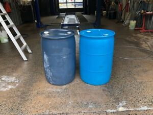 Steel Burn Barrels and Plastic 45 Gallon Drums