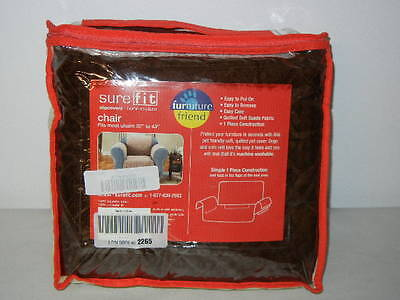 SUREFIT FURNITURE FRIEND QUILTED PET COVER, CHOCOLATE SOFT SUEDE Furniture Covers Soft Suede