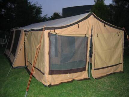 Canvas tent Hacienda 12 x 15 plus 8 ft enclosed front awning