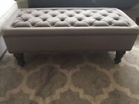 Bargain living room grey bench from made*com