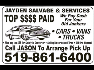 Top Dollar Paid for your Retired Ride,Old Junkers,Farm Trucks$
