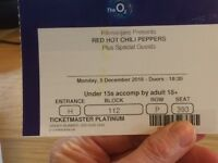 2 tickets Red Hot Chilli Peppers Mon 05 December at the O2 London - great seats together