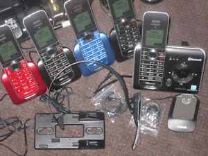 6 Panasonic or Vtech Home Phone Sets with Bluetooth/Link-to-Cell Kitchener / Waterloo Kitchener Area image 7