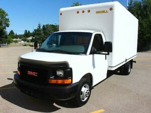 2014 GMC Savana 3500 16'' BOX Truck, No Accidents, Alberta Vehic