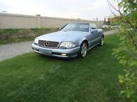 Mercedes-Benz SL500 V8 Convertible blue on blue on blue! Classic