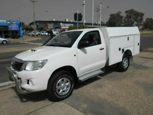 2012 Toyota Hilux KUN26R MY12 SR White 4 Speed Automatic Cab Chassis Fyshwick South Canberra Preview