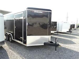 8-1/2 x 16 Contractors Enclosed Trailer with Extra Height!