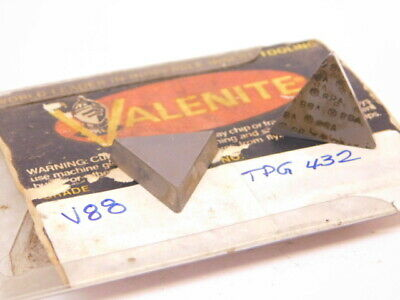 New Surplus 5pcs. Valenite Tpg 432 Grade V88 Carbide Inserts