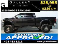 2010 DODGE RAM 2500 LIFTED *EVERYONE APPROVED* $0 DOWN $219/BW!
