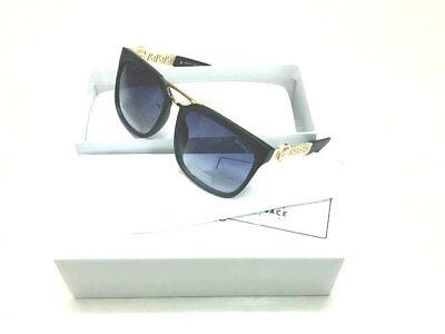 Versace Sunglasses VE2097 Black-Less golden/Black Men Sunglasses 56mm
