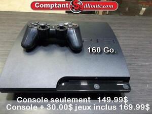 CONSOLE PS3 160 Go CV123405 Comptant illimite
