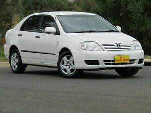 2006 Toyota Corolla ZZE122R 5Y Ascent White 4 Speed Automatic Sedan Strathalbyn Alexandrina Area Preview