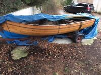 14' Clinker built classic wooden fishing boat - PRICE DROP!