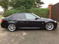 2008 58 BMW 330d M Sport PRO SAT NAV LEATHER MANUAL SALOON BLACK