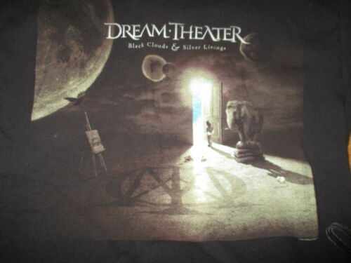 """2010 DREAM THEATER """"Black Clouds & silver Linings"""" Concert Tour (LG) T-Shirt"""