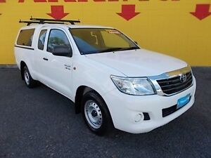 2012 Toyota Hilux GGN15R MY12 SR Xtra Cab White 5 Speed Automatic Utility Winnellie Darwin City Preview