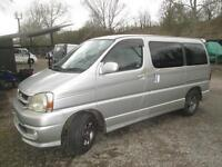 TOYOTA HIACE 2 BERTH, AUTOMATIC, REAR KITCHEN CAMPERVAN / MOTORHOME FOR SALE