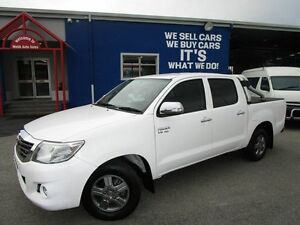 2013 Toyota Hilux GGN15R MY12 SR5 Double Cab White 5 Speed Automatic Utility Welshpool Canning Area Preview