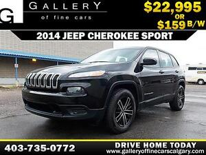 2014 Jeep Cherokee Sport 4x4 $159 bi-weekly APPLY NOW DRIVE NOW