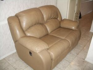 Genuine Leather, Love Seat Both reclining seats