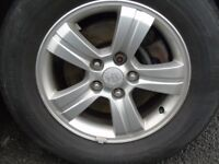 "16"" alloy wheels with good tyres"