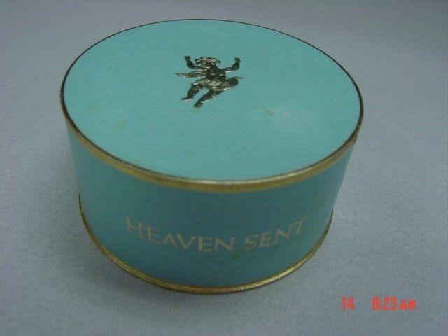 Vintage Dusting Powder Box Heaven Sent Rubenstein EMPTY NO PUFF USED