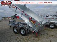 7 ton dump trailer - FULLY GALVANIZED - NO MORE RUST  144'' LONG