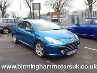 2006 (06 Reg) Peugeot 307 2.0 HDI SE COUPE CABRIOLET 136BHP 2DR Convertible BLUE
