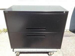 2 Drawer Lateral File Cabinets, Black