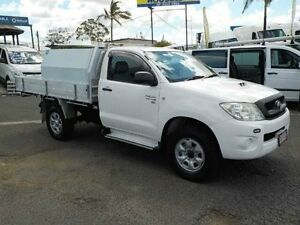 2009 Toyota Hilux KUN26R MY10 SR White 4 Speed Automatic Cab Chassis Archerfield Brisbane South West Preview