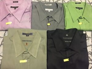 Mens Dress Shirts (solid)-Neck sizes vary between 18, 18.5 &19