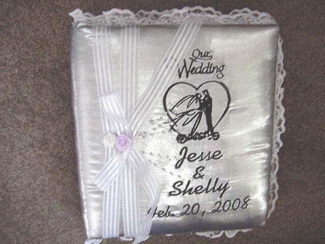 Personalized Satin Covered Wedding Bridal Bride Groom Photo