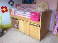 Cabin bed / Mid sleeper /single bed with desk