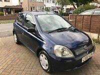 2002 LOW MILEAGE - 5 DOORS MANUAL TOYOTA YARISS, ENGINE 1.3 FOR £900!!! Last call