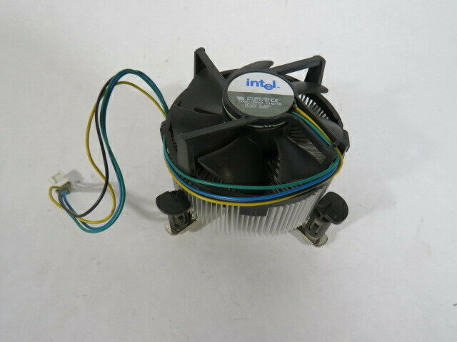 Intel C91968-004 CPU Heat Sink BROKEN MOUNTING CLIPS  USED