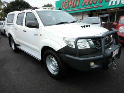 2012 Toyota Hilux KUN26R MY12 SR (4x4) White 4 Speed Automatic Dual Cab Mount Gravatt Brisbane South East Preview