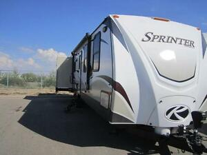 2013 36 FT KEYSTONE RV SPRINTER 328RLS TRAVEL TRAILER
