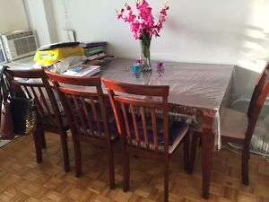 clean beautiful dining table