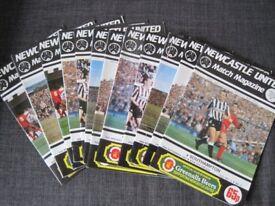 football progrmames !987/88 Newcastle United