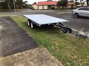 DUAL AXLE FLATBED TRAILER WITH BRAKES Endeavour Hills Casey Area Preview