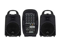 PA System Hire/Rental With Speakers and Stands. Ideal for Private Parties, Business & Charity Use.