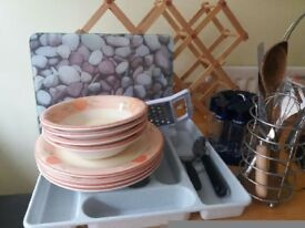 Kitchen items - crockery, utensils