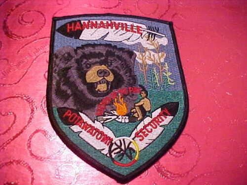 HANNAHVILLE MICHIGAN POLICE PATCH SHOULDER SIZE UNUSED