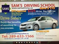 SAM'S DRIVING SCHOOL EASTER SPECIAL $325+tax (Save $175)