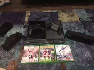 XBOX one 500GB with Kinect for sale.