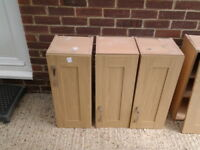 """howdens"" light oak kitchen units and door"
