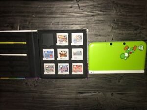 Nintendo 3DS XL Yoshi Eddition Bundle 8 games